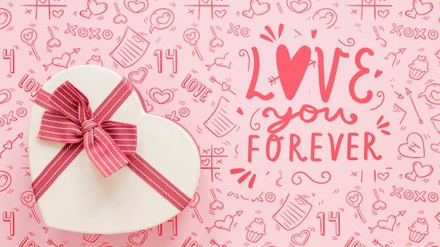 아름 다운 발렌타인 개념 모형 무료 PSD 파일