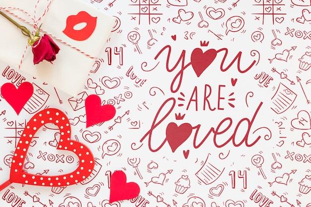 Bellissimo il concetto di san valentino Psd Gratuite