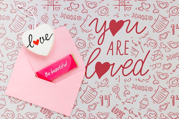 Beautiful valentine's day concept Free Psd