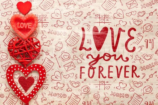 아름 다운 발렌타인 개념 무료 PSD 파일