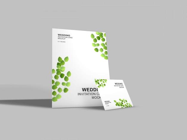 Beautiful wedding card mockup template Premium Psd