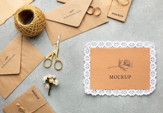 Красивый свадебный концепт-макет Бесплатные Psd