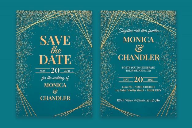 Beautiful wedding invitation template Premium Psd