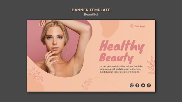 Beauty banner template design Free Psd