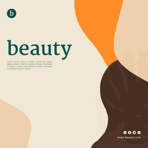 Beauty banner template with abstract shapes Free Psd