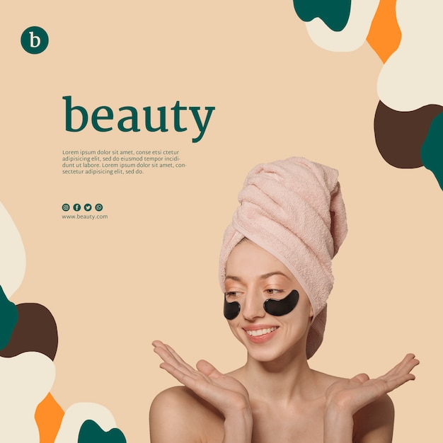 Beauty banner template with a woman Free Psd