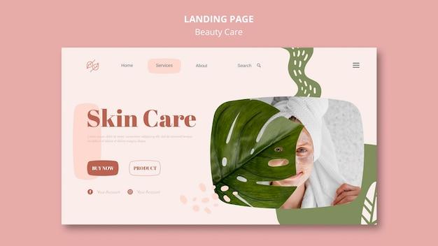 Modello di pagina di destinazione per cure di bellezza Psd Gratuite
