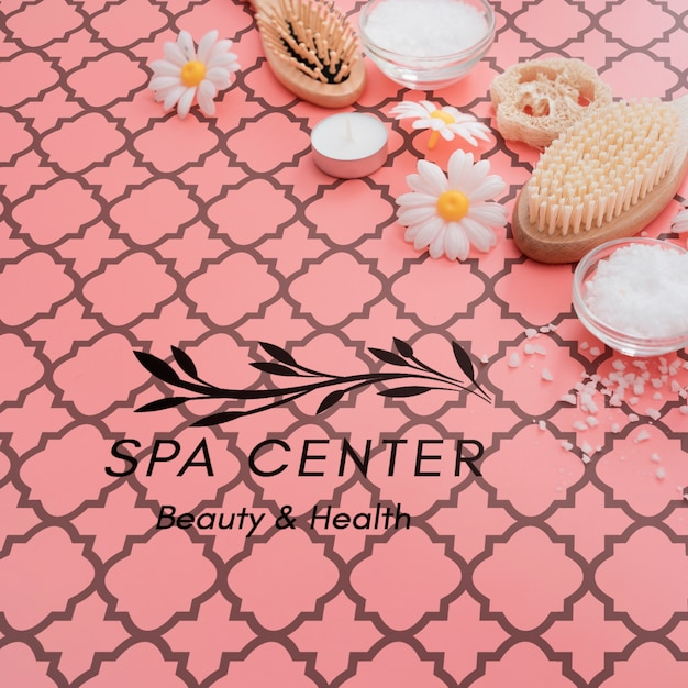 Beauty care and scrubbing process at spa Free Psd