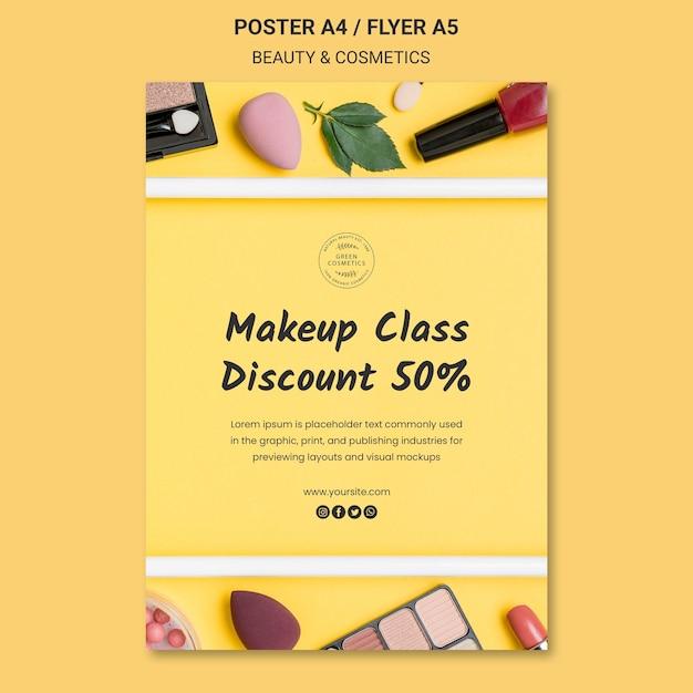 美容・化粧品コンセプトポスターテンプレート 無料 Psd