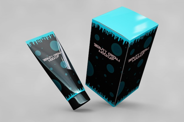 Beauty product mockup Free Psd