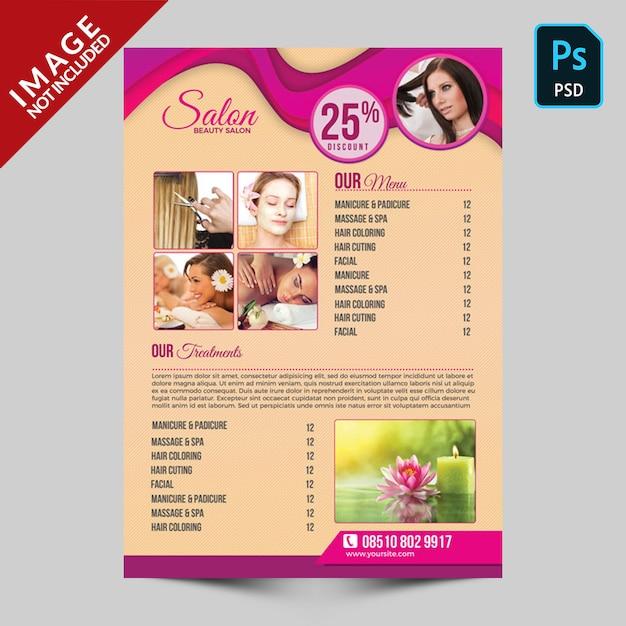 Beauty salon flyer Premium Psd