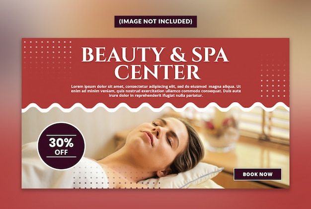 Beauty and spa web banner template Premium Psd