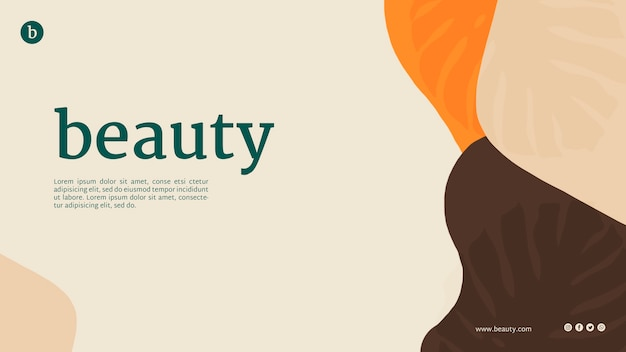 Beauty web template with abstract shapes Free Psd