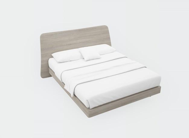 Кровать с белыми простынями Бесплатные Psd