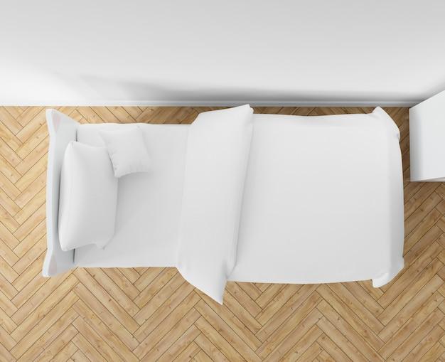 Спальня с белыми простынями Бесплатные Psd