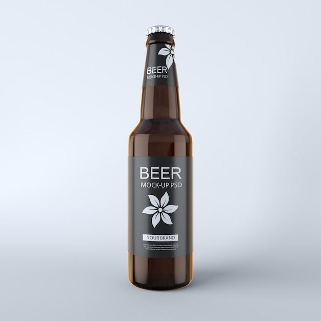 Beer bottle mockup Premium Psd