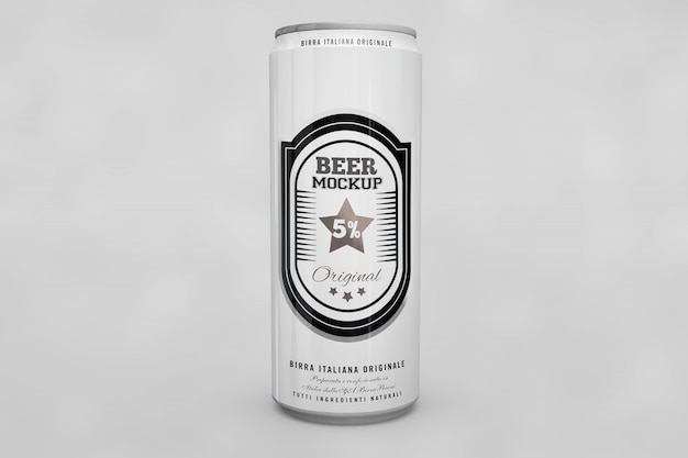 Beer can mock up Free Psd