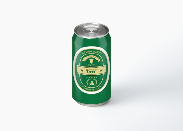 Beer can mock up Premium Psd
