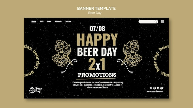 ビールの日ランディングページテンプレート 無料 Psd