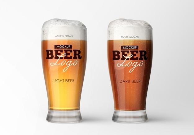 ビールグラスモックアップ Premium Psd