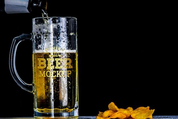 Beer mockup Premium Psd