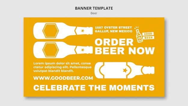 Beer party banner template Free Psd