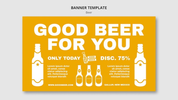 Beer party template banner Free Psd