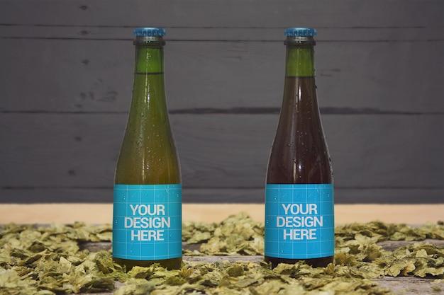 Beer styles 37,5cl mockup Premium Psd