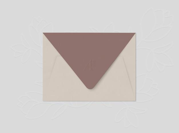 Beige envelope Free Psd