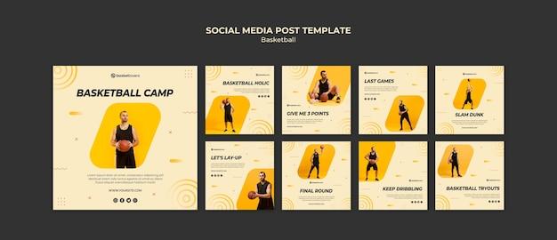 최고의 농구 소셜 미디어 게시물 웹 템플릿 프리미엄 PSD 파일
