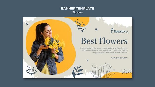 Best bouquet of flowers banner template Free Psd