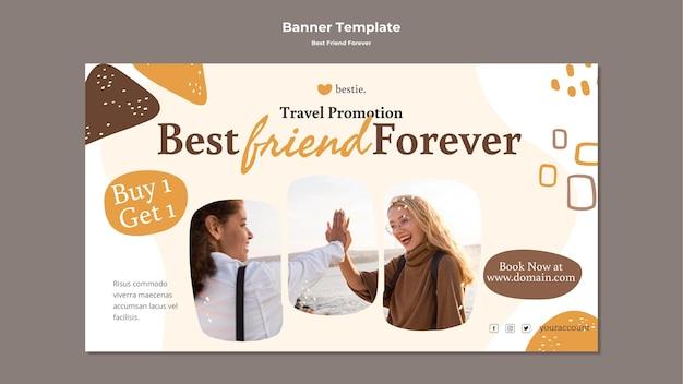 Лучшие друзья навсегда баннер шаблон Бесплатные Psd