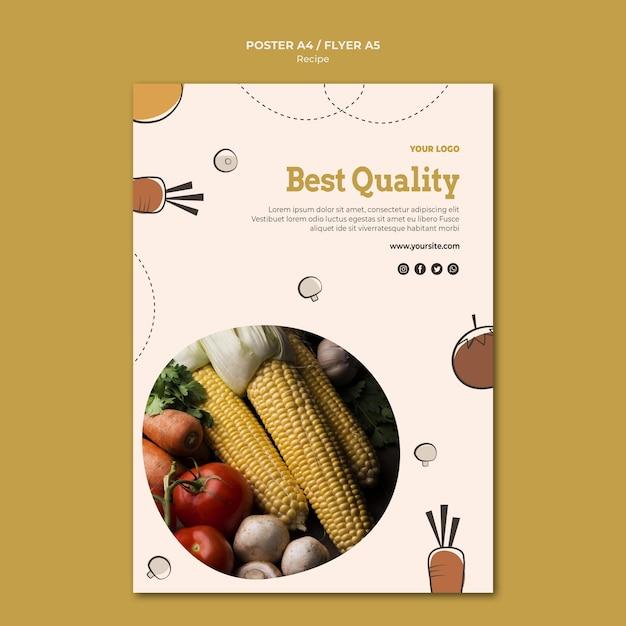 Miglior design di poster di ricette di qualità Psd Gratuite