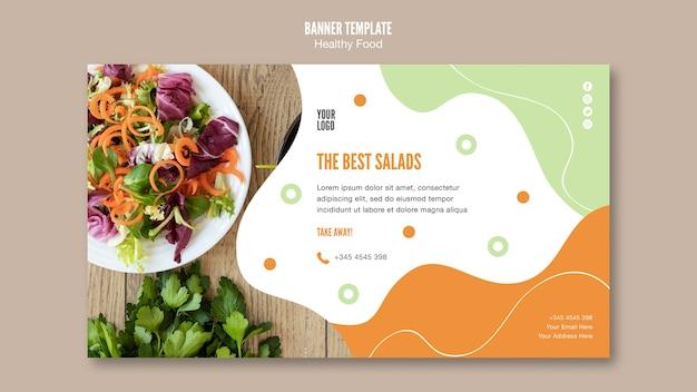 最高のサラダとパセリのバナーテンプレート 無料 Psd