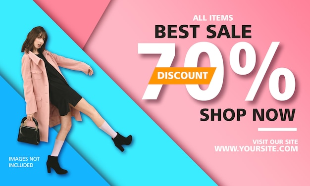 Best sale promotion poster template Premium Psd