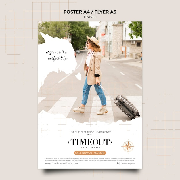Best travel experience poster template Free Psd