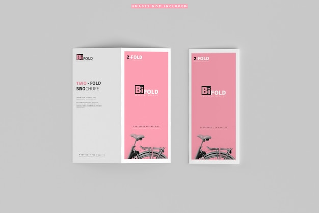 Bi-fold brochure mockups Premium Psd