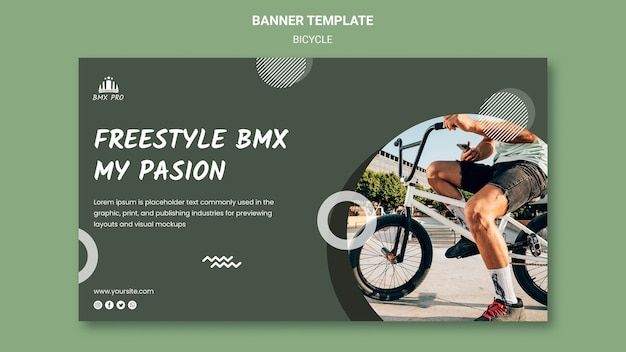 Bicycle banner template concept Free Psd