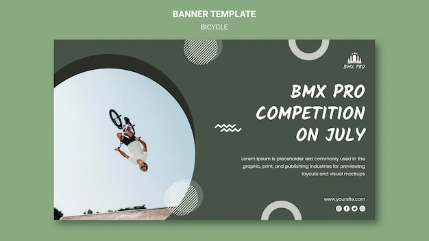 Bicycle banner template design Free Psd