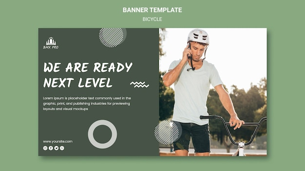 Bicycle banner template theme Free Psd