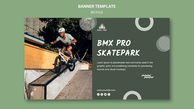 Bicycle banner template Free Psd