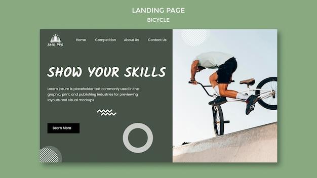 Bicycle landing page theme Free Psd