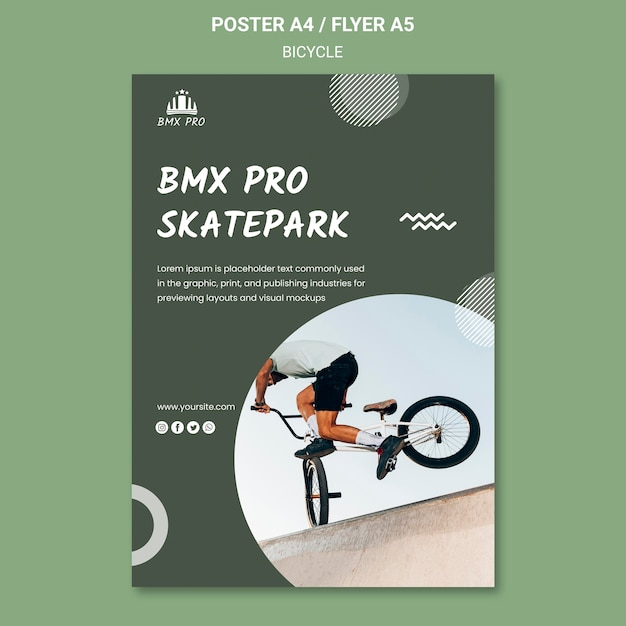 Bicycle poster template concept Free Psd