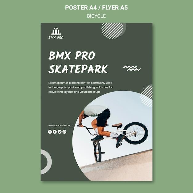 自転車ポスターテンプレートコンセプト 無料 Psd