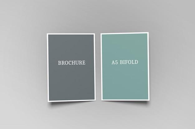 Bifold a5パンフレットモックアップ Premium Psd