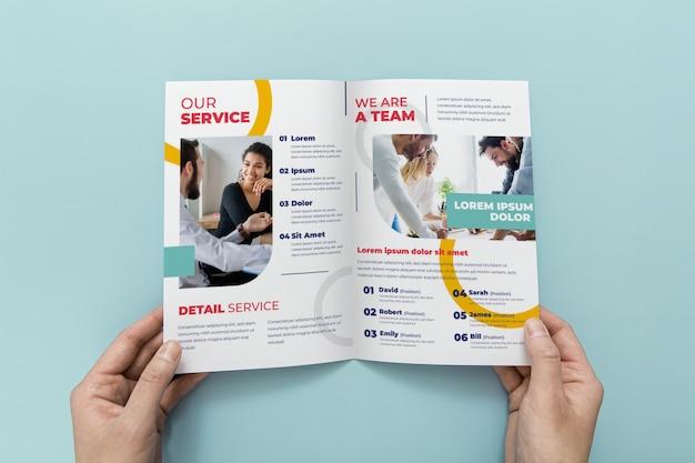 Двойной макет концепции брошюры Premium Psd