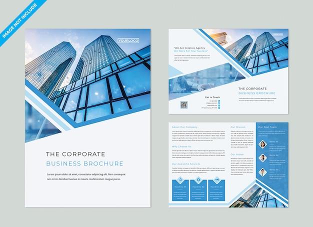Bifold brochure template Premium Psd