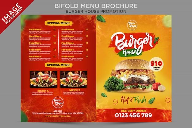 Bifold menu brochure flyer template Premium Psd