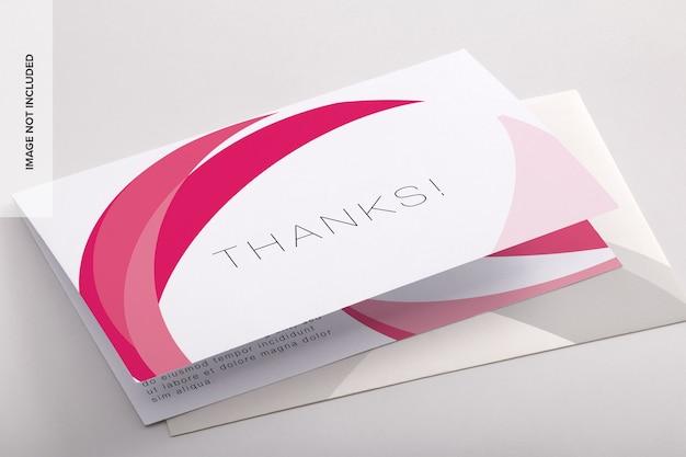 Bifold thank you card psd mockup Premium Psd