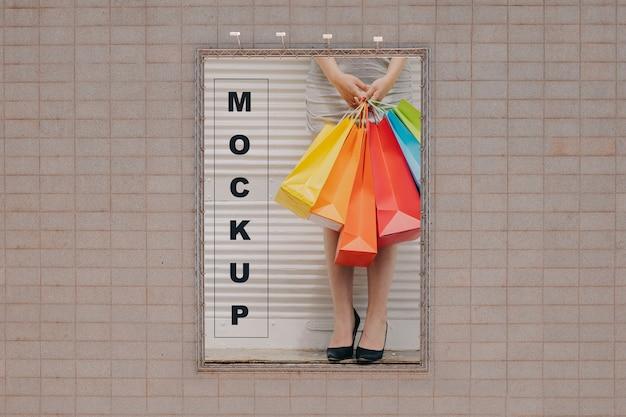 Big billboard mockup on wall Free Psd